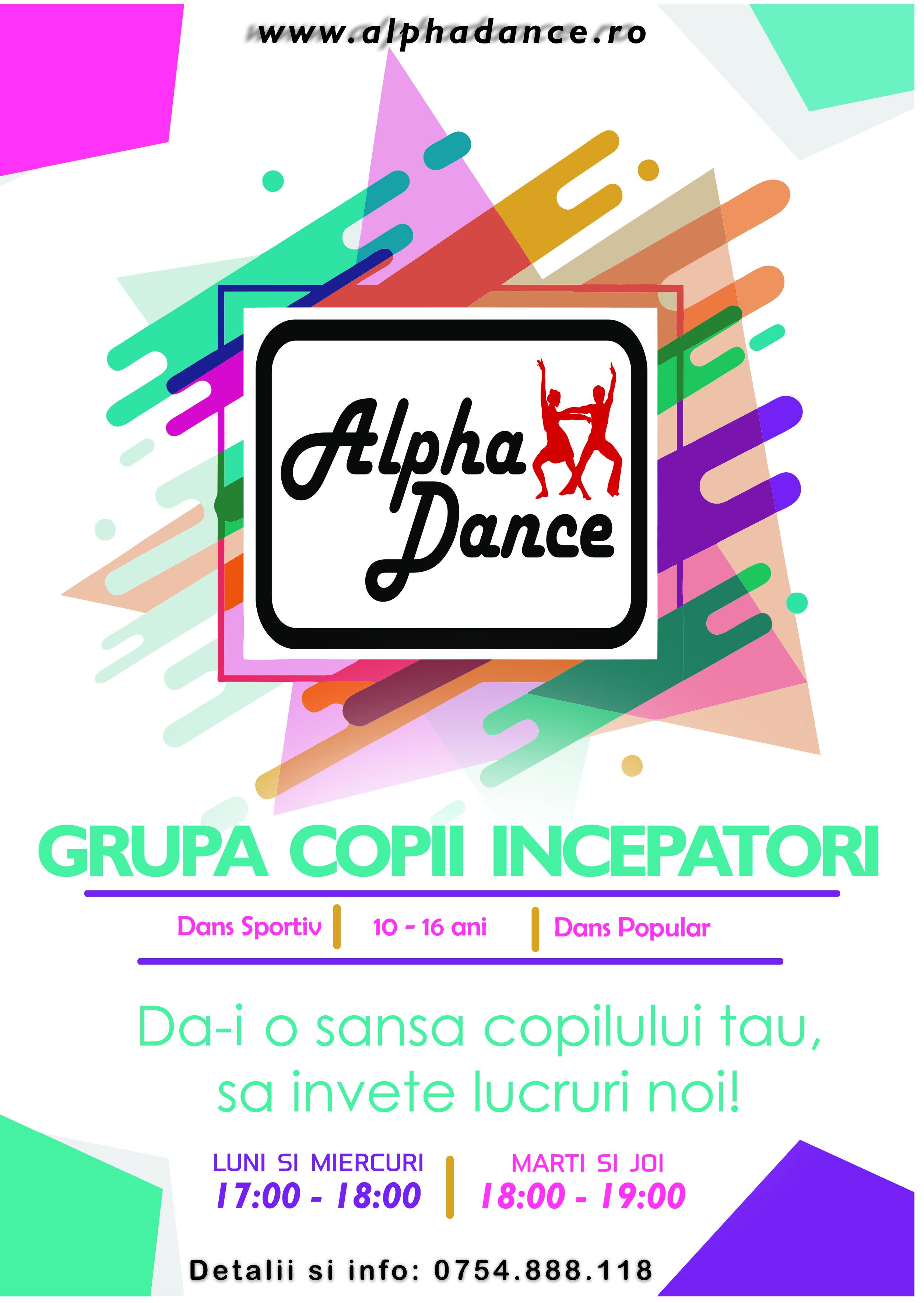 alphadance cursuri de dans pentru copii